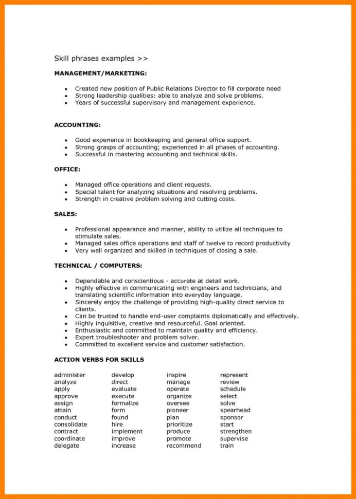 resume format language skills examples objective levels of proficiency standard form Resume Awarded Employee Of The Month Resume