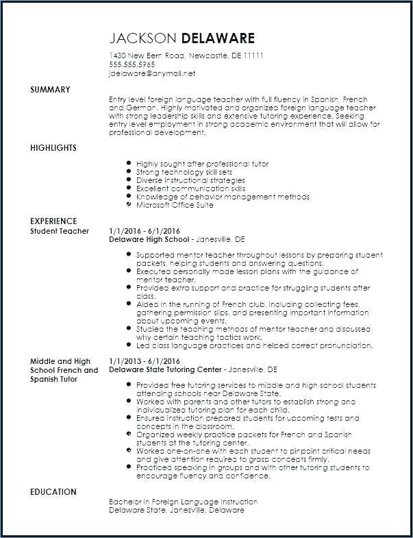 resume format language skills teaching teacher template free skill set for dsp del taco Resume Skill Set For Teacher Resume