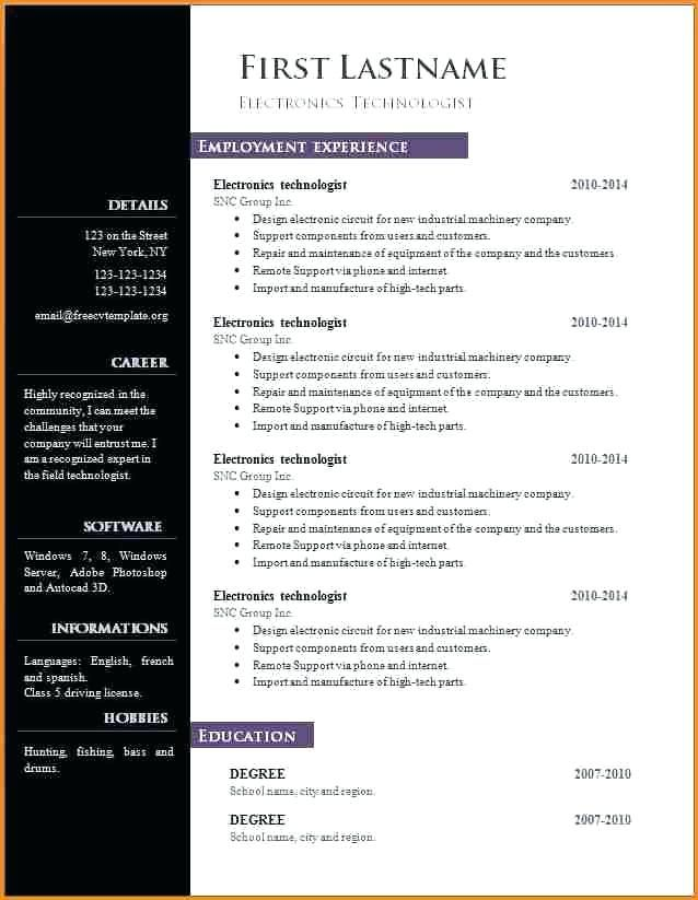 resume format libreoffice template word free microsoft employment auto parts sample Resume Libreoffice Resume Template