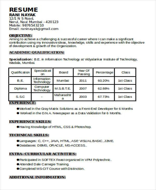 resume format qualifications templates best job qualification upload cover letter with Resume Resume Qualification Format
