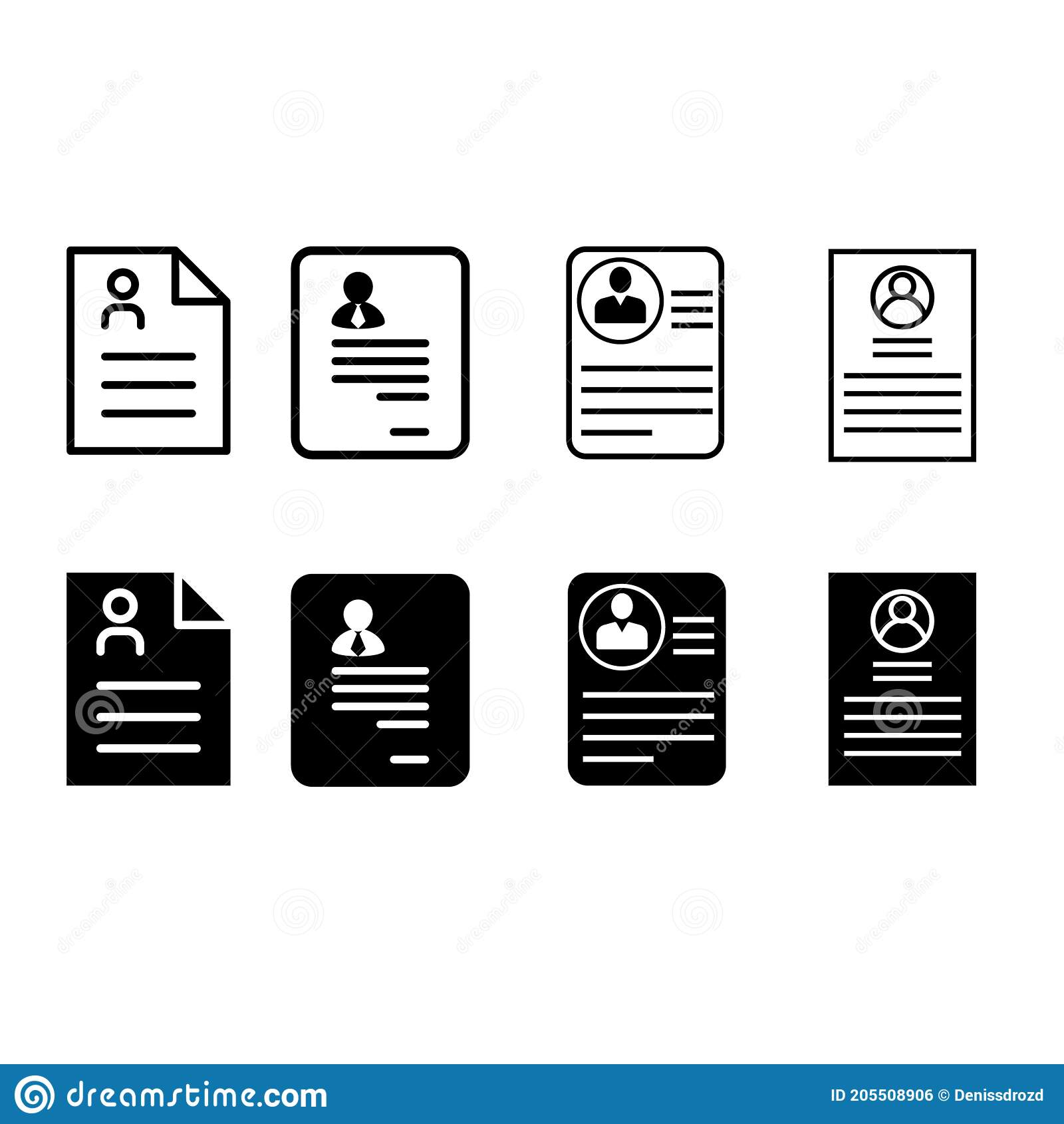 resume icon vector set summary illustration sign collection abstract symbol stock of eggs Resume Mobile Symbol For Resume