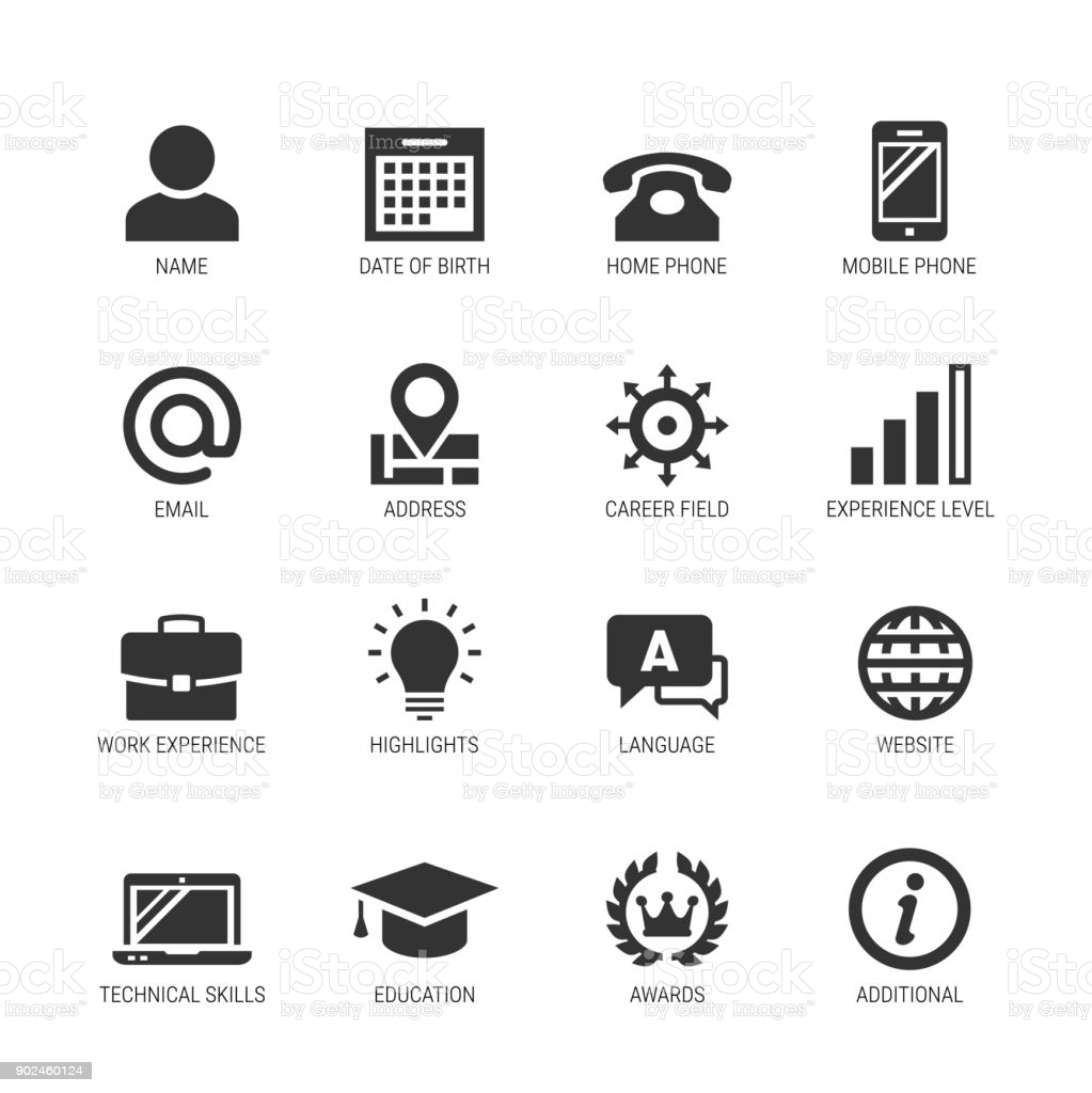 resume icons illustrations royalty free vector graphics clip art phone symbol for graphic Resume Phone Symbol For Resume