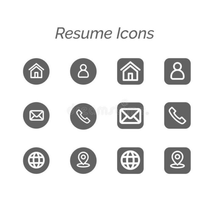 resume icons stock illustrations vectors clipart dreamstime phone symbol for basic rgb Resume Phone Symbol For Resume