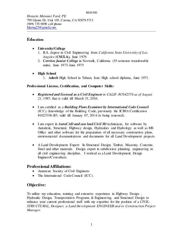 resume jan land development engineer example of summary on for administrative assistant Resume Land Development Engineer Resume