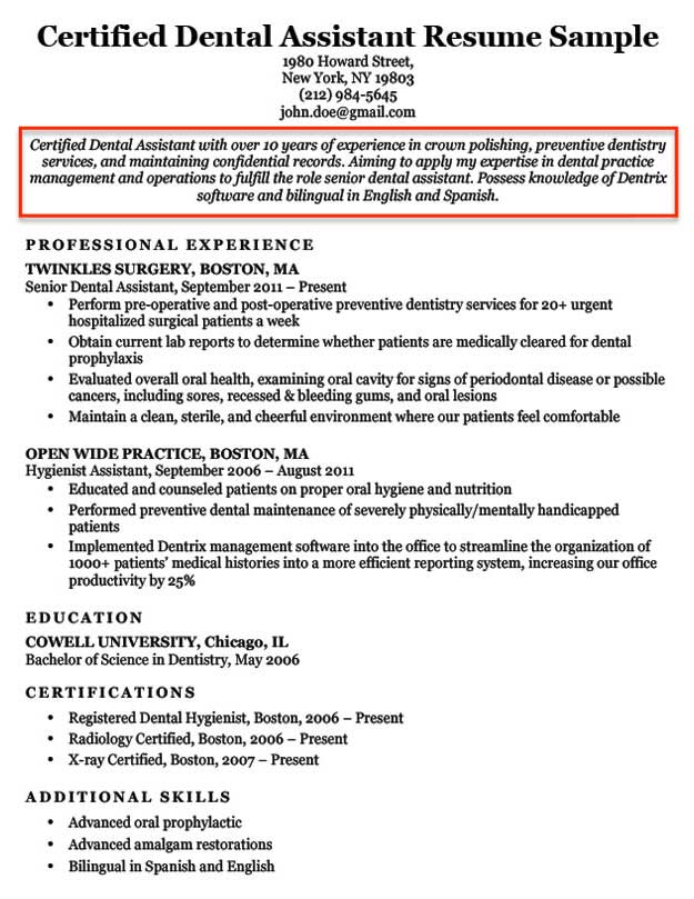 resume objective examples for students and professionals catchy statements dental Resume Catchy Resume Objective Statements