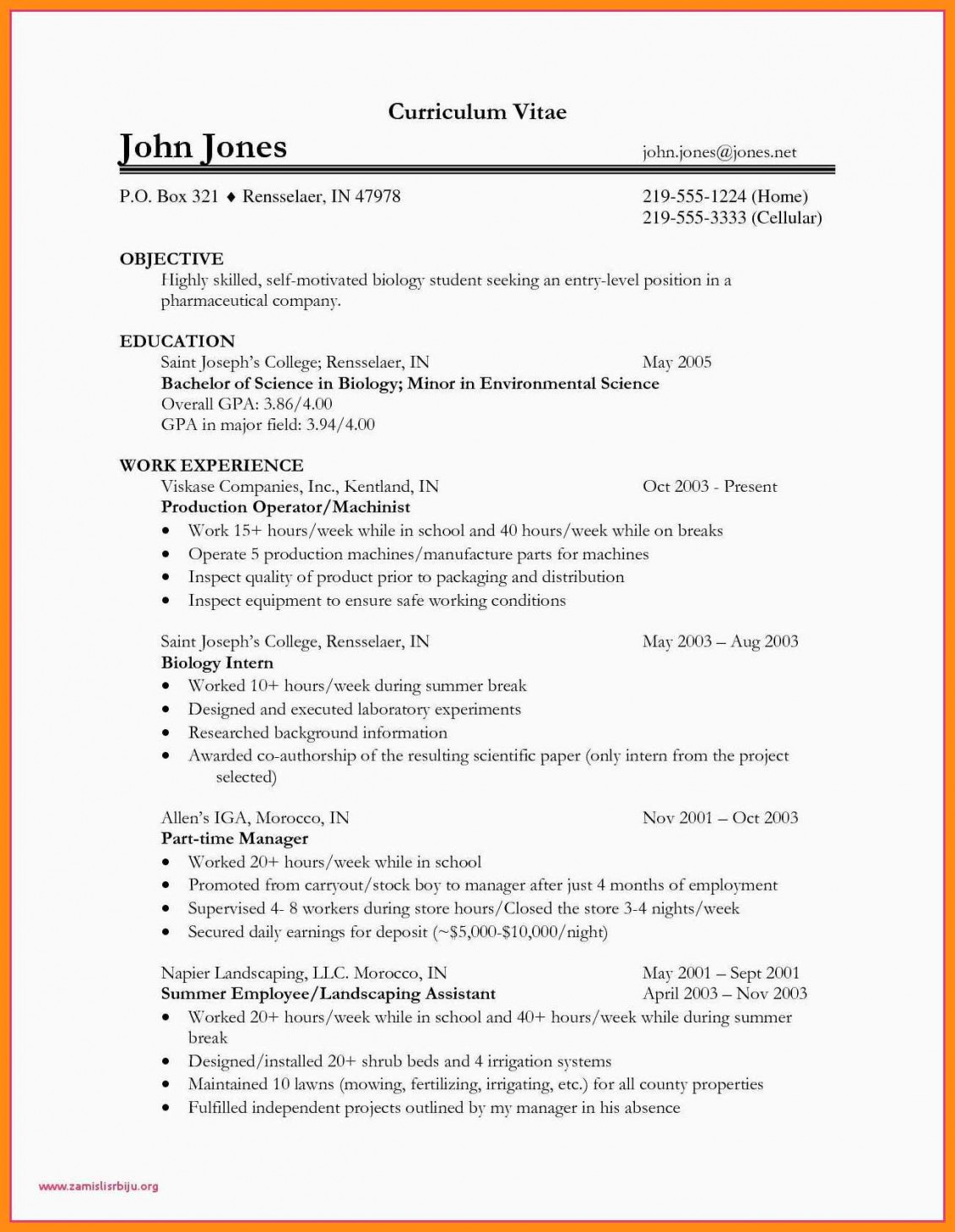 resume objective examples template builder example teenage biology elainegalindo high Resume Teenage Resume Objective Examples