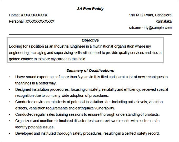 resume objectives pdf free premium templates objective for technical engineer format Resume Objective For Technical Resume