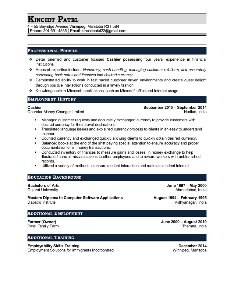 resume patel kinchit cashier and currency exchange foreign conversion gate01 thumbnail Resume Foreign Exchange Teller Resume