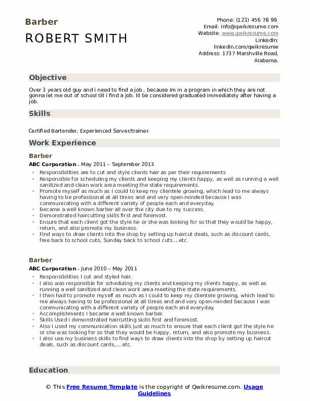 resume samples qwikresume shop owner pdf works well with others payday loan examples Resume Barber Shop Owner Resume