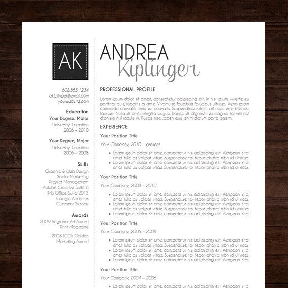resume template cv word for mac or pc etsy job design contemporary templates free help Resume Contemporary Resume Templates Free Word