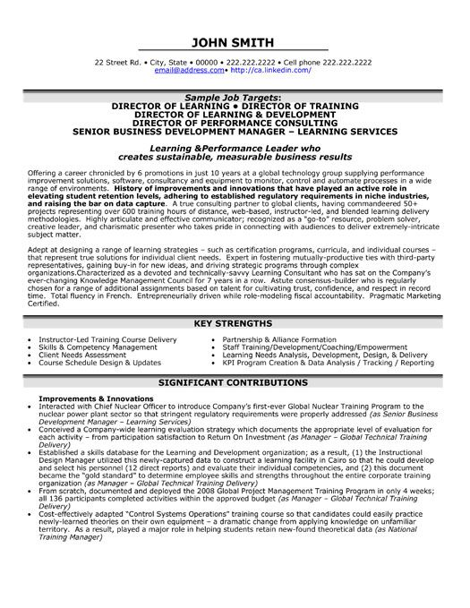 resume template for director of learning you can it and make your own executive education Resume Learning And Development Resume