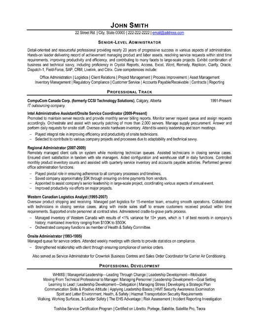 resume template for senior level administrator you can it and make your own tips Resume Senior Level Resume Sample