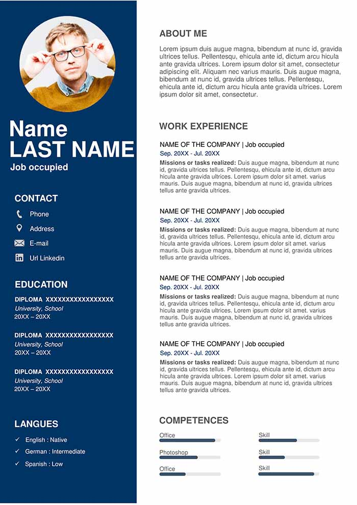 resume template free for word professional templates physical education teacher fresher Resume Resume Templates 2019 Download