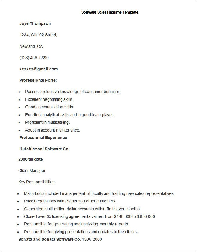 resume template free samples examples format premium templates and sample software Resume Resume Format And Examples