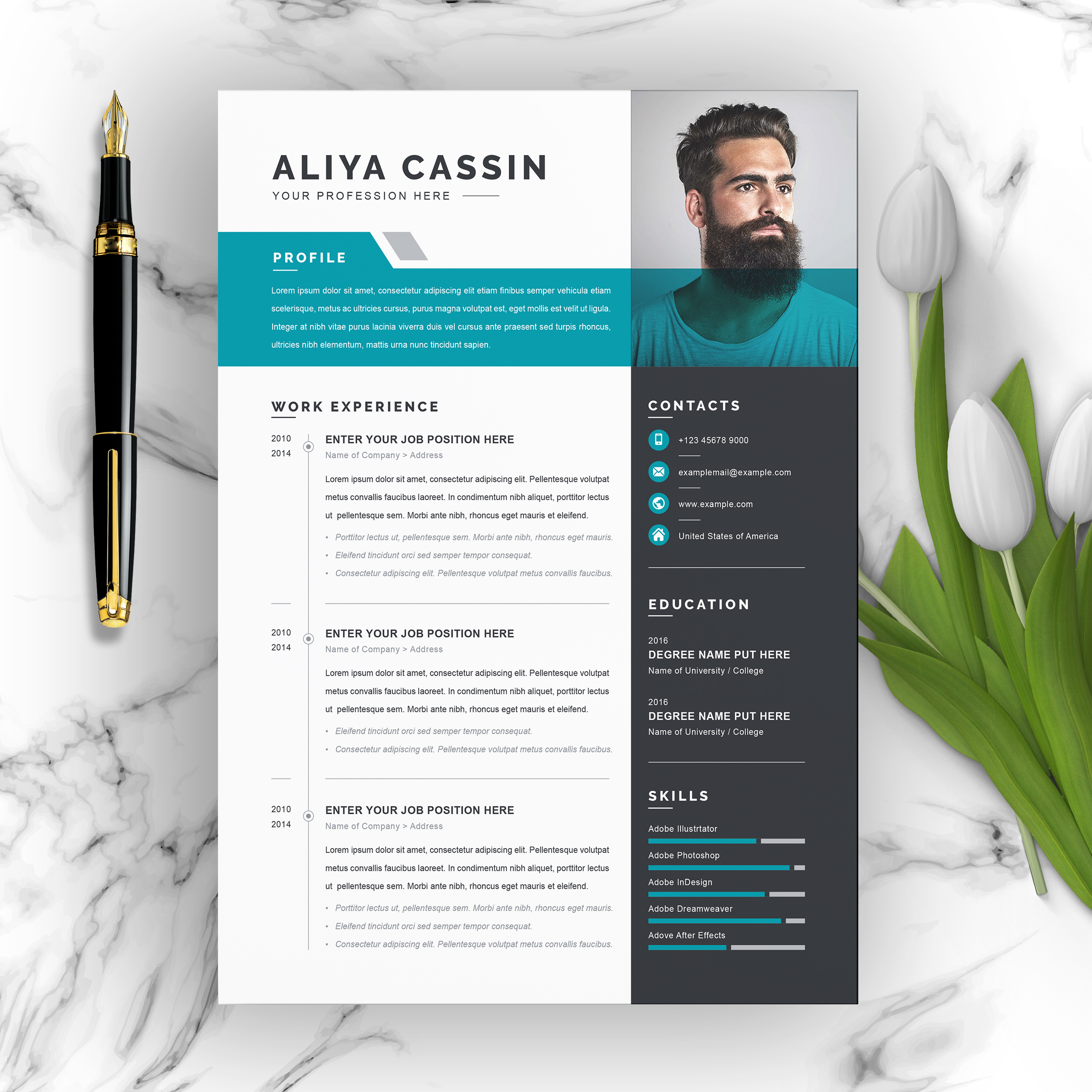 resume template free word contemporary templates clean professional creative and modern Resume Contemporary Resume Templates Free Word