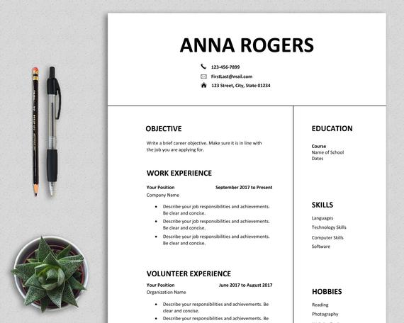 resume template word first job cv one etsy format for il 570xn frus unique templates free Resume Resume Format For First Job