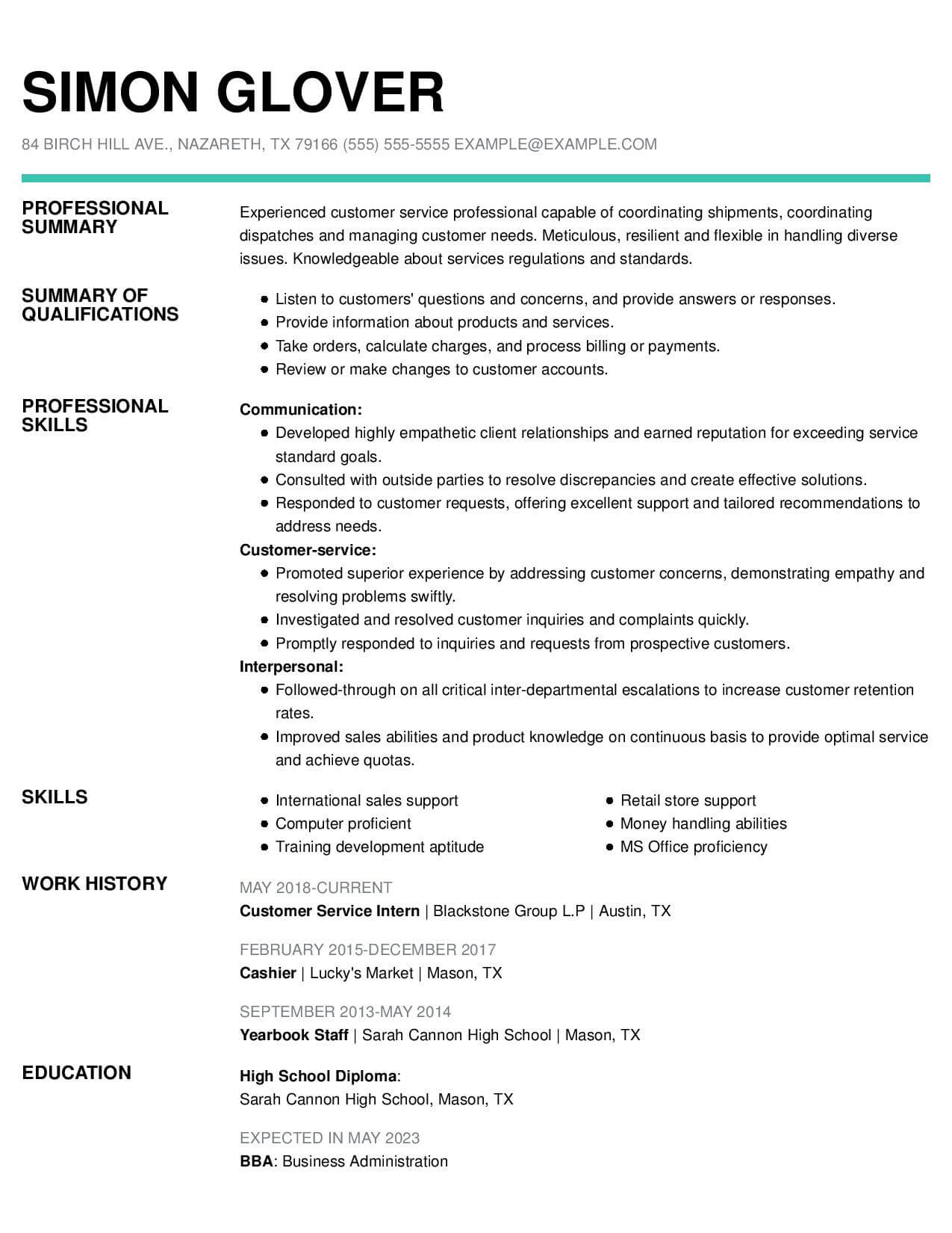 resume templates customer service livecareer template free insightful functional csintern Resume Customer Service Resume Template Free