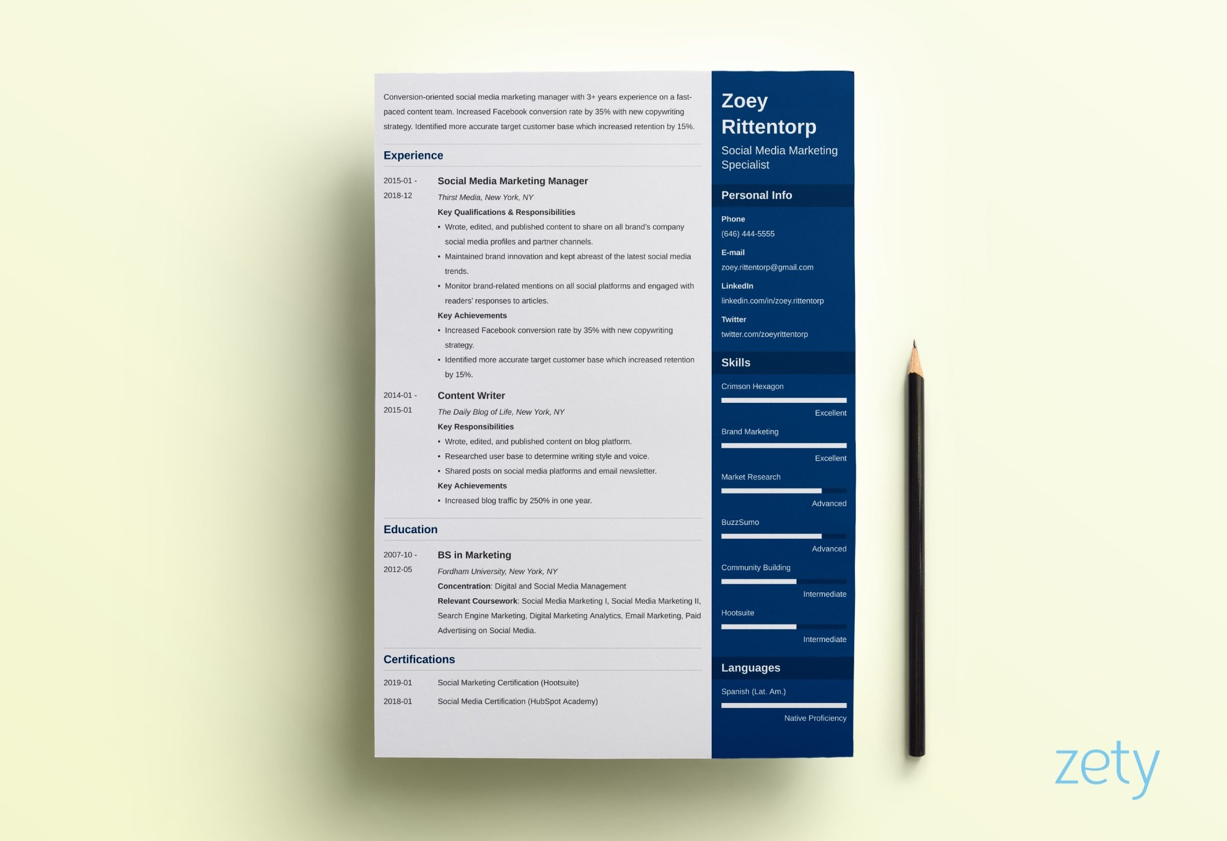resume templates for microsoft word free executive template simple enfold child care Resume Executive Resume Template 2019 Free