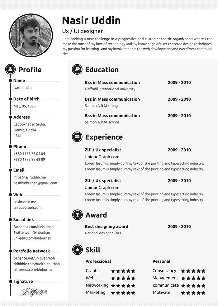 resume templates free word template for resumes best downloadable professional Resume Professional Resume Templates 2018 Free Download