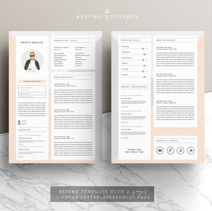 resume templates that ll help you stand out from the crowd gen girl muse chic template Resume The Muse Resume Templates