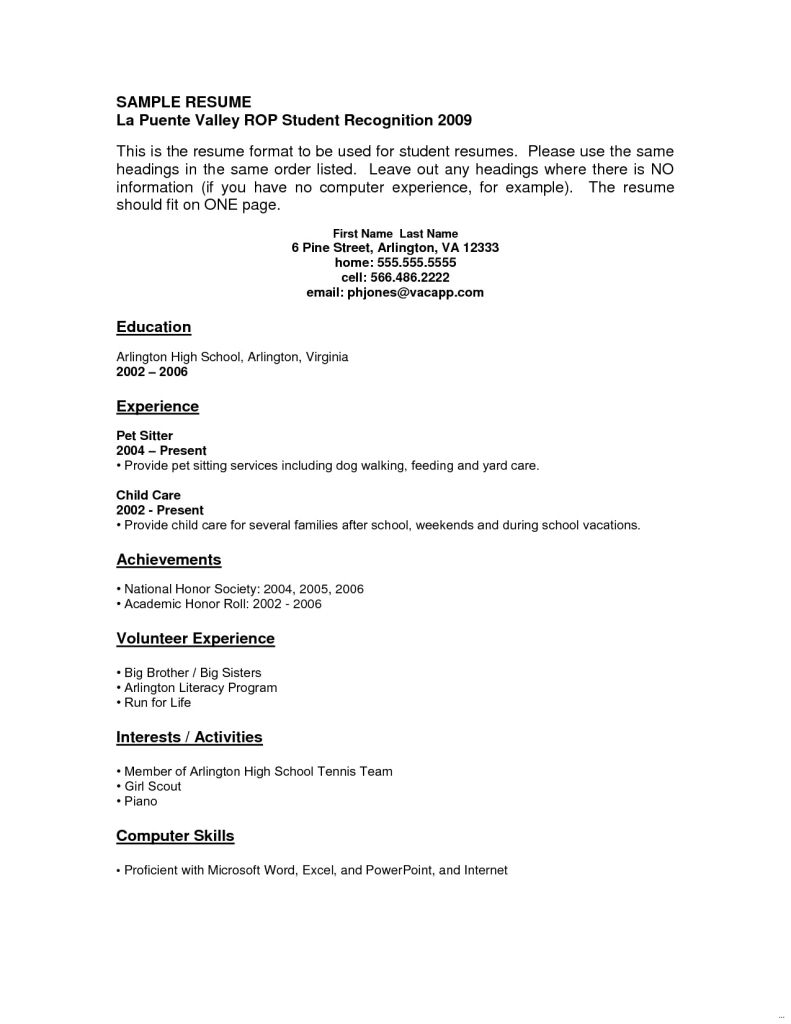 resume templates youth central job examples student template experience working with Resume Experience Working With Youth Resume