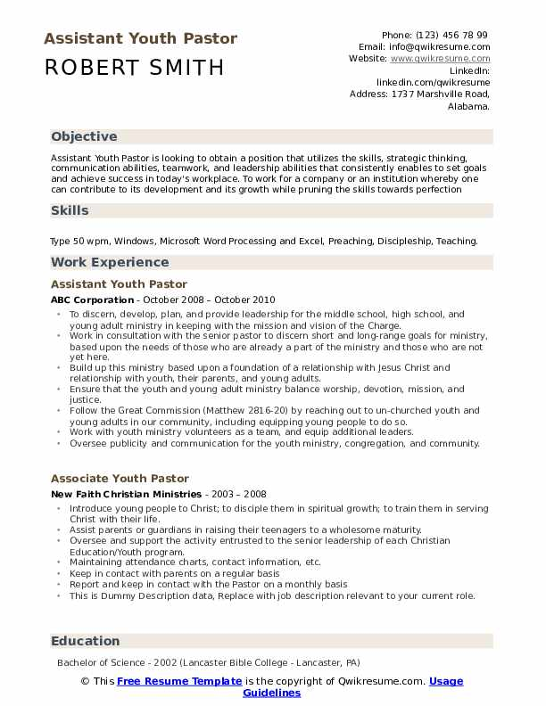 resume to emaild cover letter sample ministry example for internship architecture Resume Sample Ministry Resume And Cover Letter