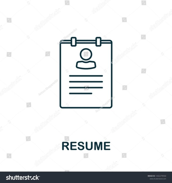 resume vector icon symbol in outline style creative sign from human resources icons Resume Mobile Symbol For Resume