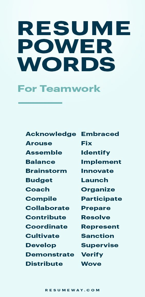 resume words that get you hired resumeway skills advice for collaborate good marketing Resume Resume Words For Collaborate