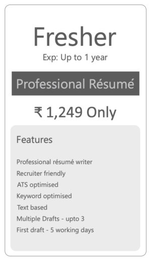 resume writing packages gtap fresher professional 300x518 skills for leadership examples Resume Resume Writing Packages