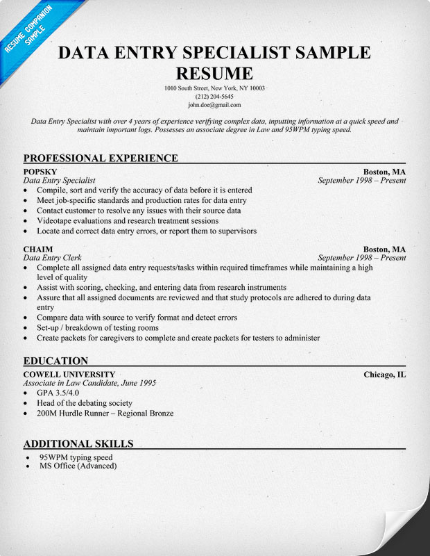 resume writing service accounting services data entry specialist sample best mechanical Resume Accounting Resume Writing Services