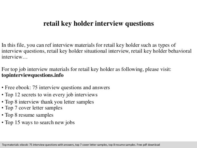 retail holder interview questions resume for interviews retailkeyholderinterviewquestions Resume Resume Holder For Interviews