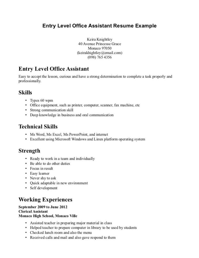 retail resume example entry level http resumecareer info administrative assistant medical Resume Retail Resume For High School Student