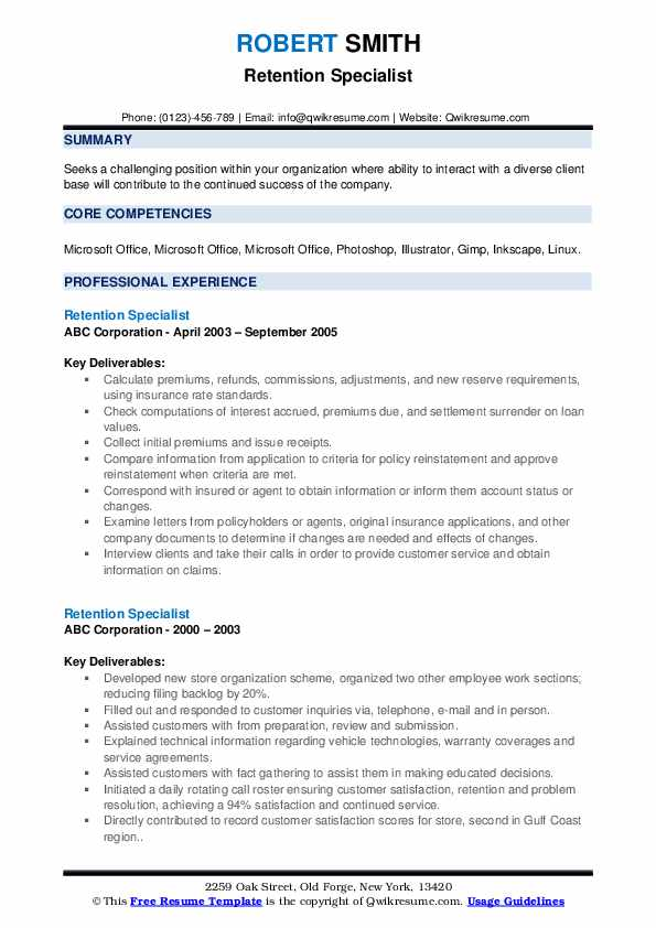 retention specialist resume samples qwikresume pdf format for educational counsellor Resume Retention Specialist Resume