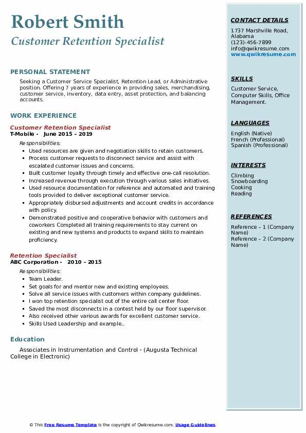 retention specialist resume samples qwikresume pdf should pay for maintenance sample Resume Retention Specialist Resume