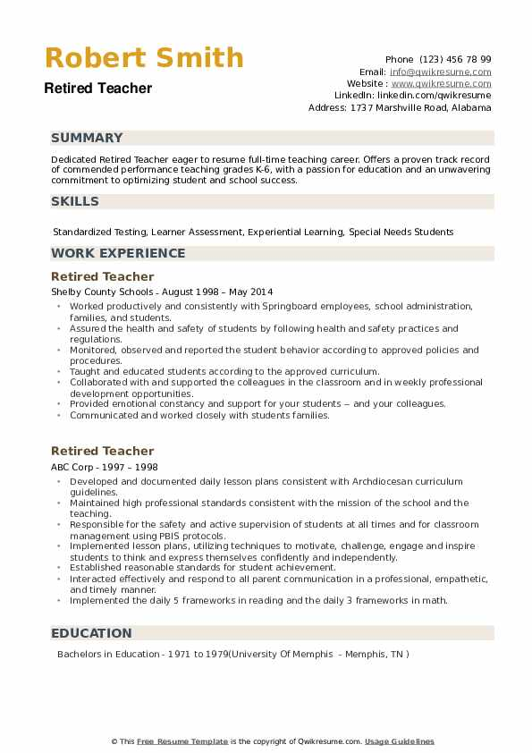 retired teacher resume samples qwikresume for pdf request from candidate aviation Resume Resume For Retired Person