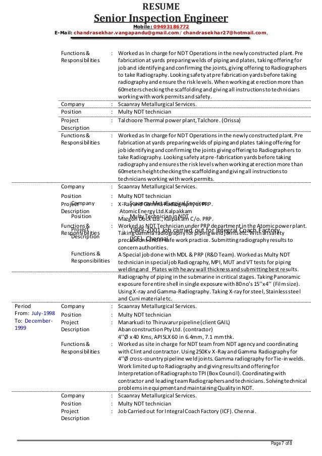 revenue inspector resume templates for ndt sample creative business manual testing months Resume Ndt Inspector Resume Sample