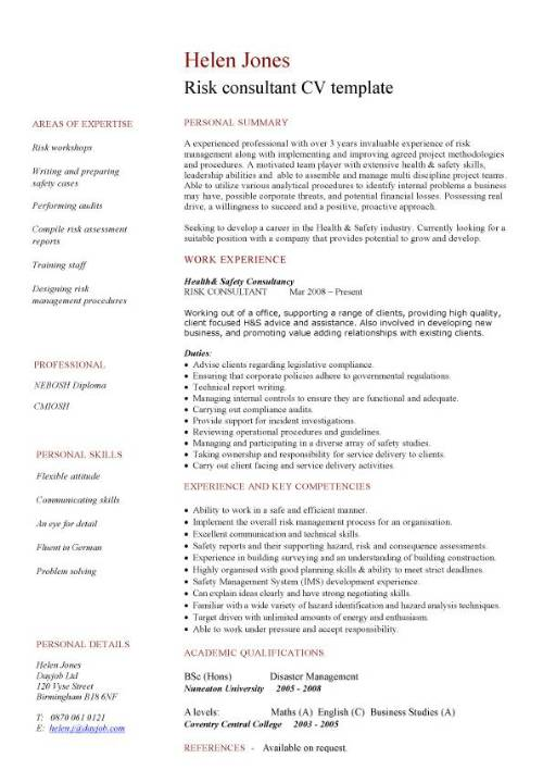 risk consultant cv template management consulting resume examples pic and cover letter Resume Management Consulting Resume Examples