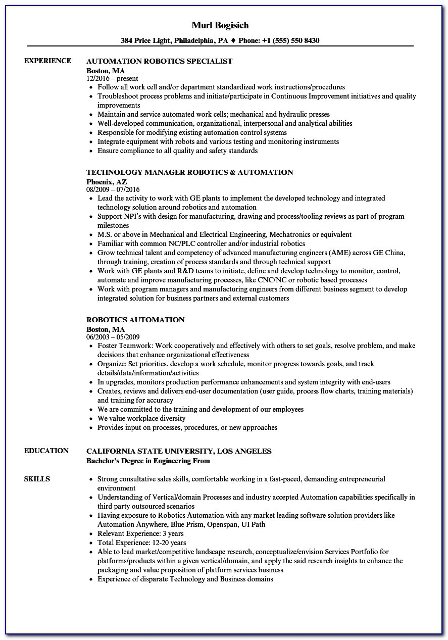 robotics process automation resume vincegray2014 robotic judy helicopter pilot template Resume Robotic Process Automation Resume