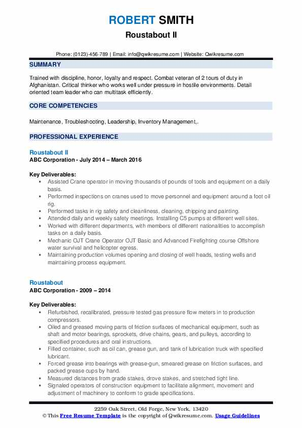 roustabout resume samples qwikresume offshore experience pdf dos and don ts college Resume Offshore Experience Resume