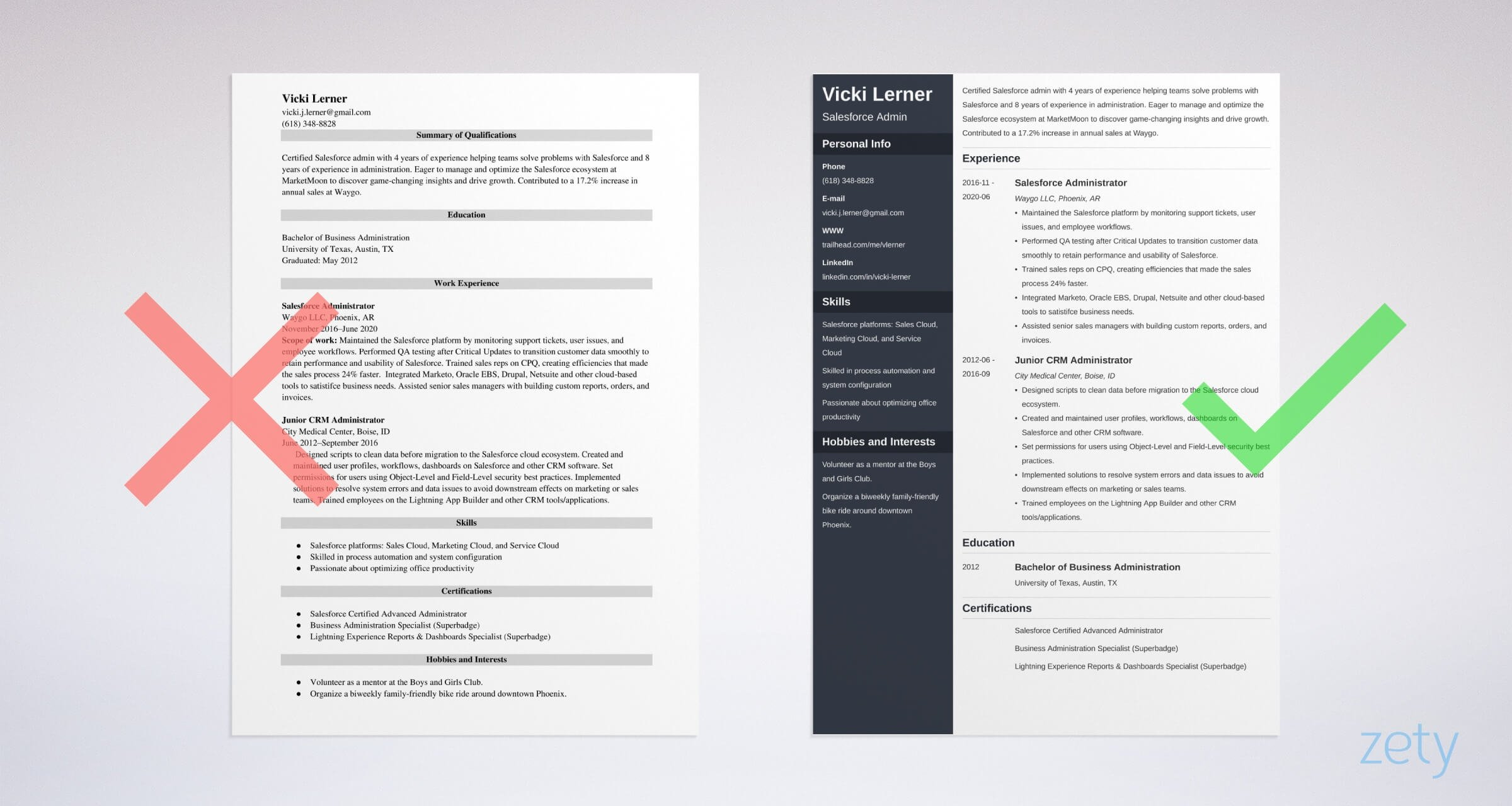 salesforce admin resume sample and guide tips cpq samples example zety us dictionary Resume Salesforce Cpq Resume Samples