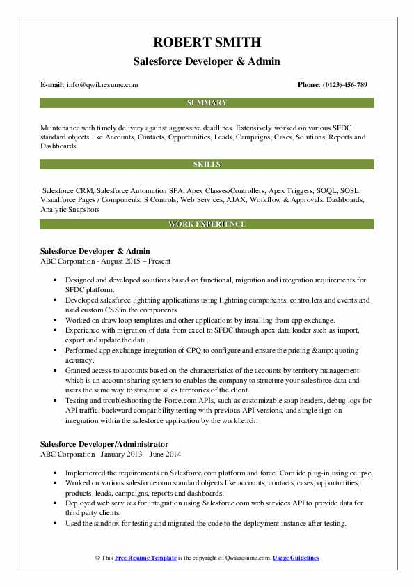 salesforce developer resume samples qwikresume cpq pdf cbp officer aid and reference Resume Salesforce Cpq Resume Samples