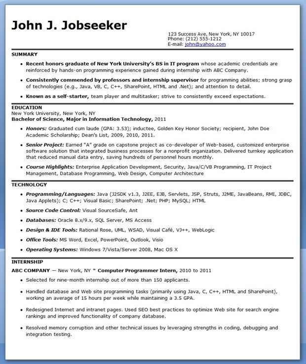 sample computer programmer resume entry level job samples business analyst excel student Resume Excel Programmer Resume