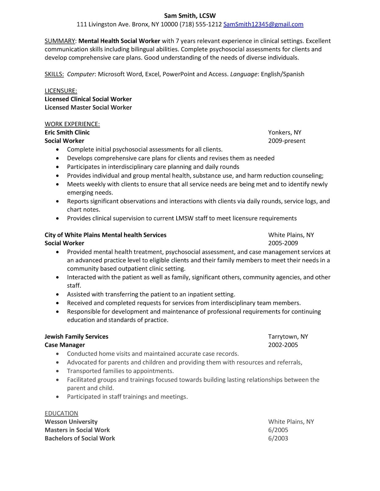 sample of professional resume counselor job description examples objective social work Resume Social Work Resume Words