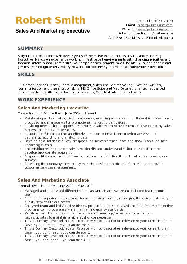 sample resume format for marketing executive classles democracy and pdf the perfect Resume Sample Resume Format For Marketing Executive