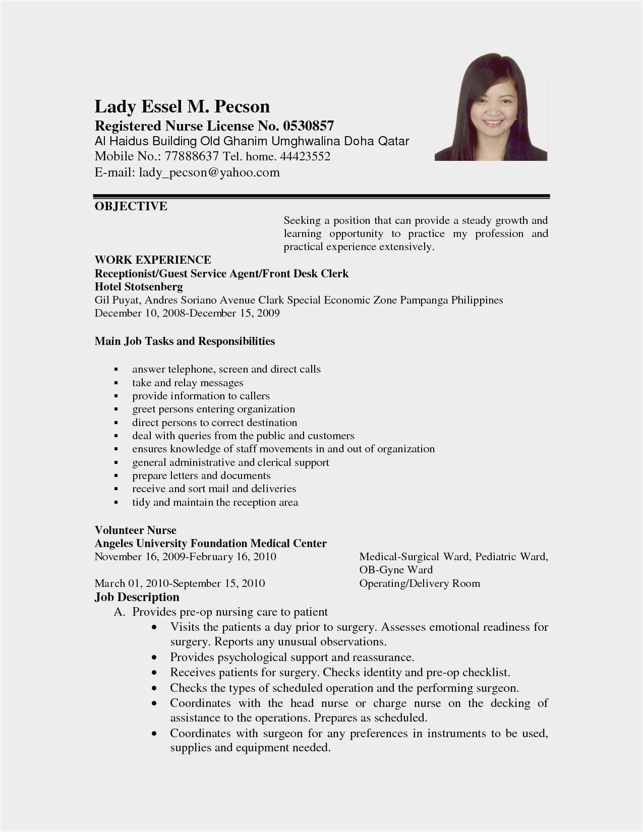 sample resume format for work abroad experience free current templates best names monster Resume Experience Sample Resume