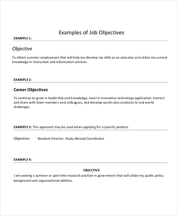 sample resume objectives pdf free premium templates good job for examples of warehouse Resume Good Job Objectives For Resume
