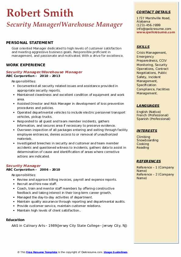 security manager resume samples qwikresume corporate pdf payroll officer devops example Resume Corporate Security Manager Resume