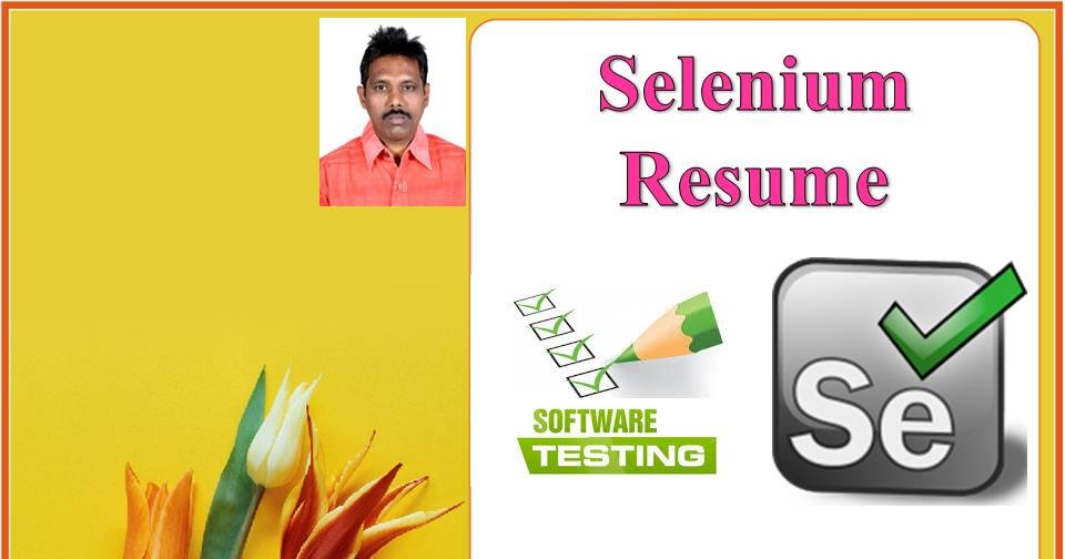 selenium tester resume software testing automation sample help for teens pharmacy Resume Automation Tester Sample Resume