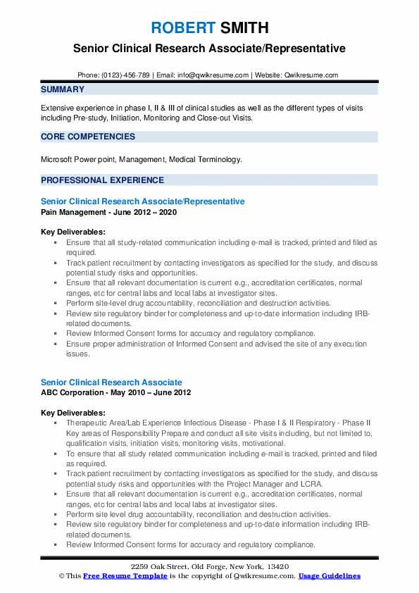 senior clinical research associate resume samples qwikresume pdf leadership professional Resume Clinical Research Associate Resume