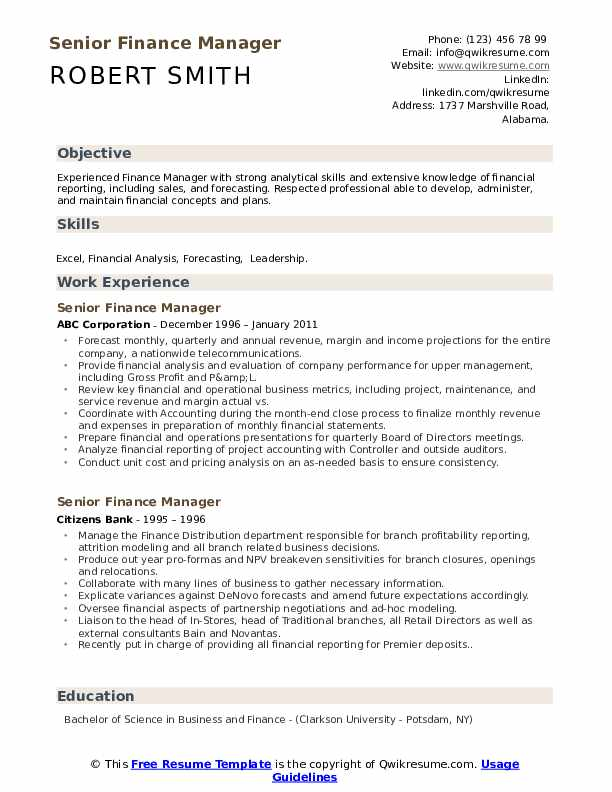 senior finance manager resume samples qwikresume objective for pdf mysql sample wufoo Resume Objective For Finance Resume